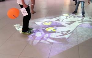 Интерактивный пол в торговом центре